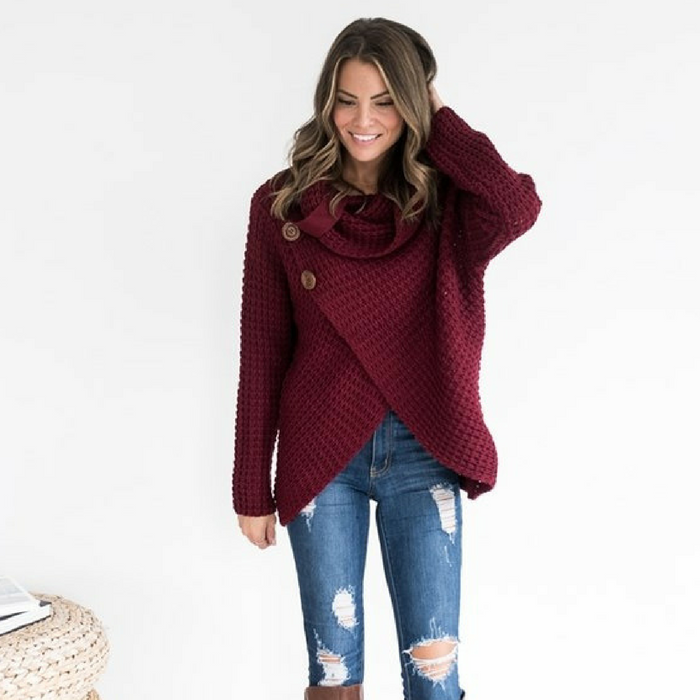 Chunky Wrap Sweater