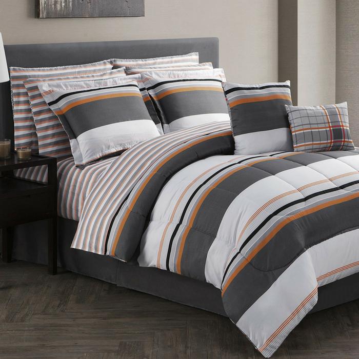 12-Piece Reversible Comforter Set