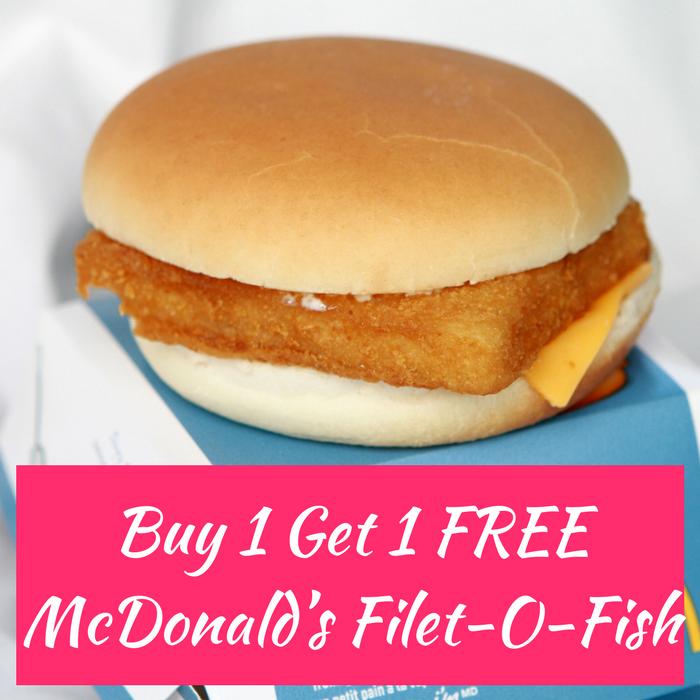 FREE McDonald's Filet-O-Fish