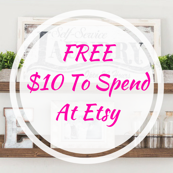 FREE $10 To Spend At Etsy!