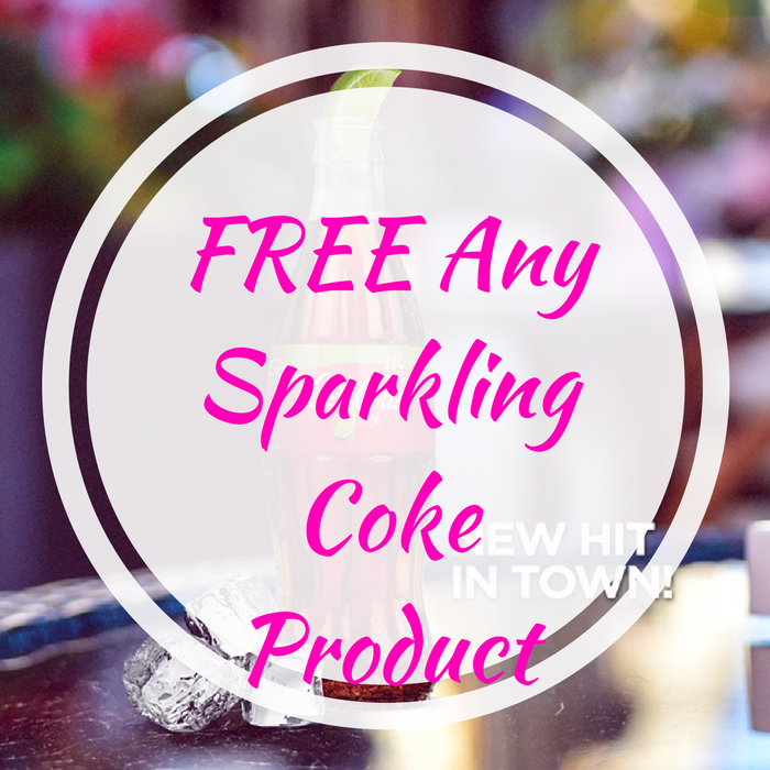 FREE Any Sparkling Coke Product!