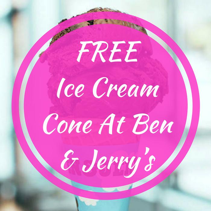 Ice Cream Cone At Ben & Jerry's!