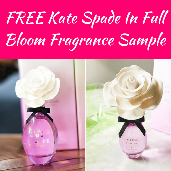 FREE Kate Spade In Full Bloom Fragrance Sample