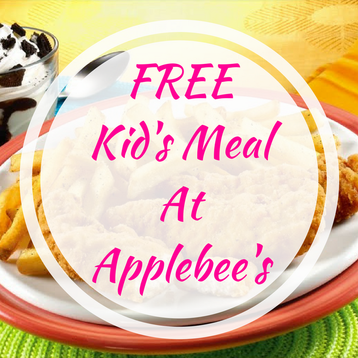 FREE Kid's Meal At Applebee's!