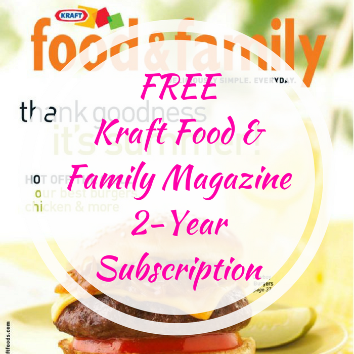 free kraft food magazine