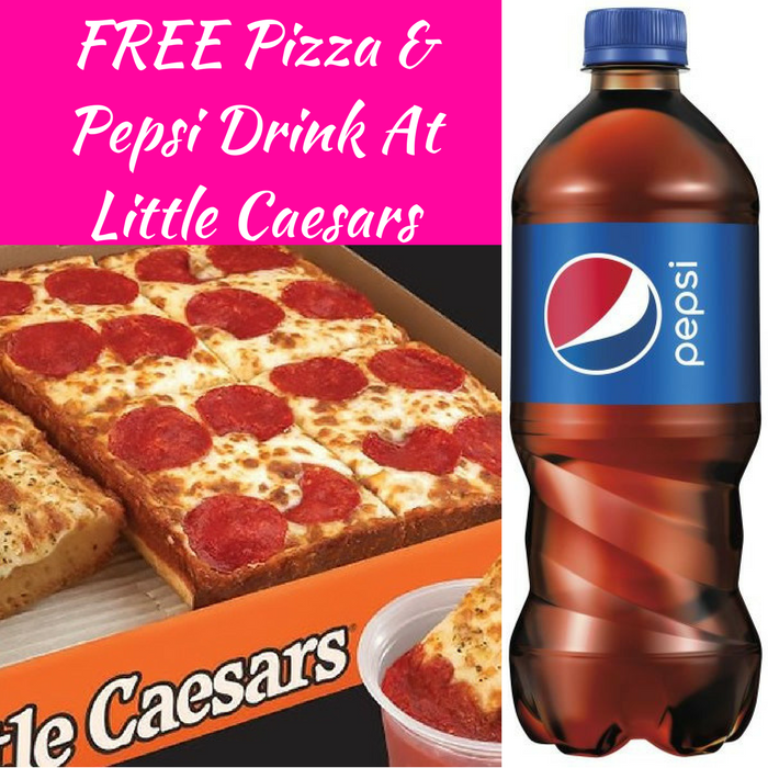FREE Pizza & Pepsi Drink At Little Caesars