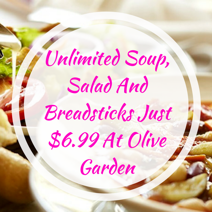 Unlimited Soup, Salad And Breadsticks