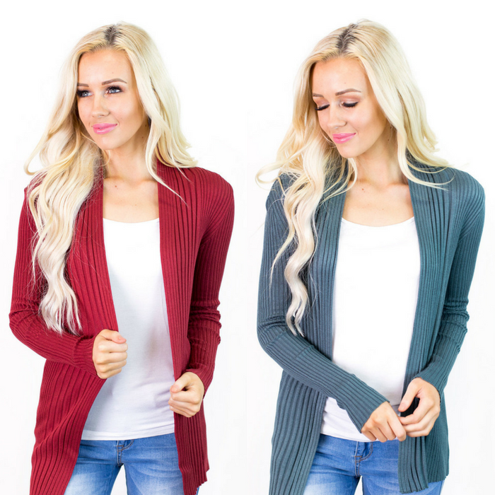 Ribbed Spring Cardigans