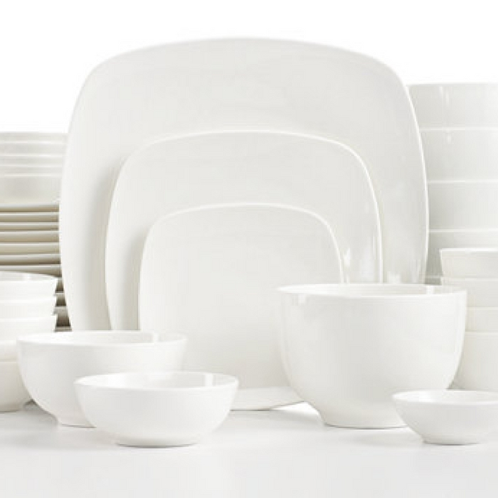 Square 42-Piece Dinnerware Set