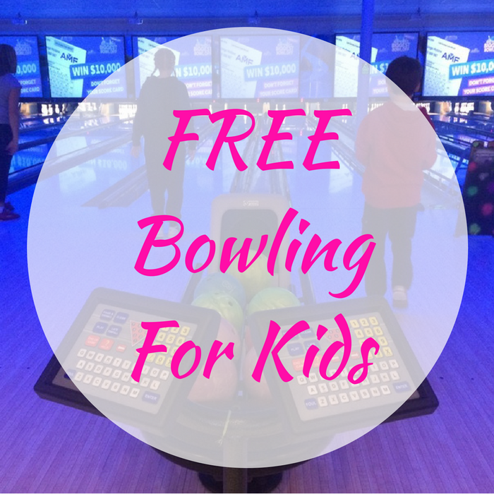 FREE Bowling Hour For Kids!