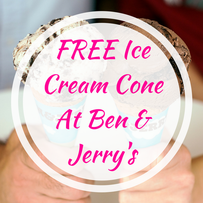 FREE Ice Cream Cone At Ben & Jerry's!