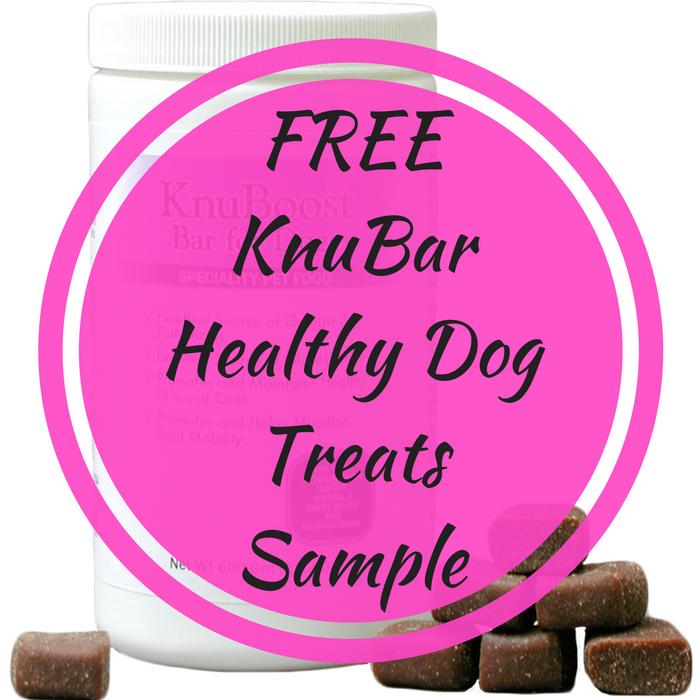 FREE KnuBar Healthy Dog Treats Sample!
