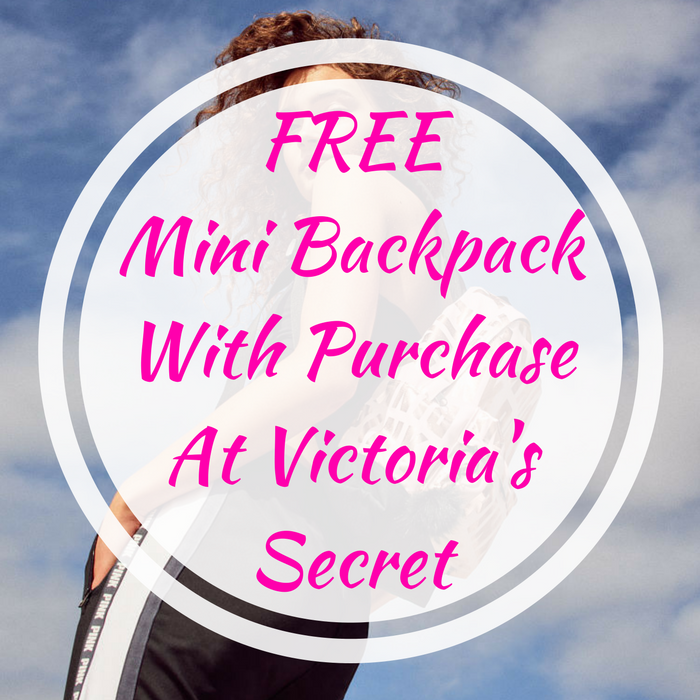 FREE Mini Backpack With Purchase At Victoria's Secret!