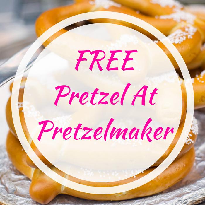 FREE Pretzel At Pretzelmaker!