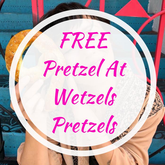 FREE Pretzel At Wetzels Pretzels!