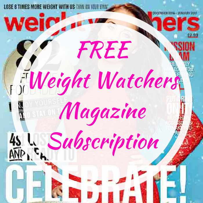 FREE Weight Watchers Magazine Subscription!