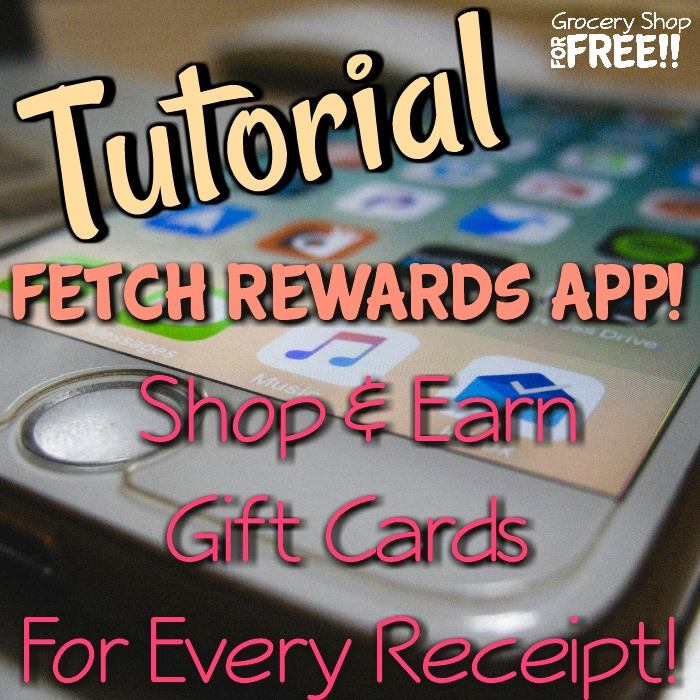 Fetch Rewards App Tutorial!  Shop And Earn Gift Cards!