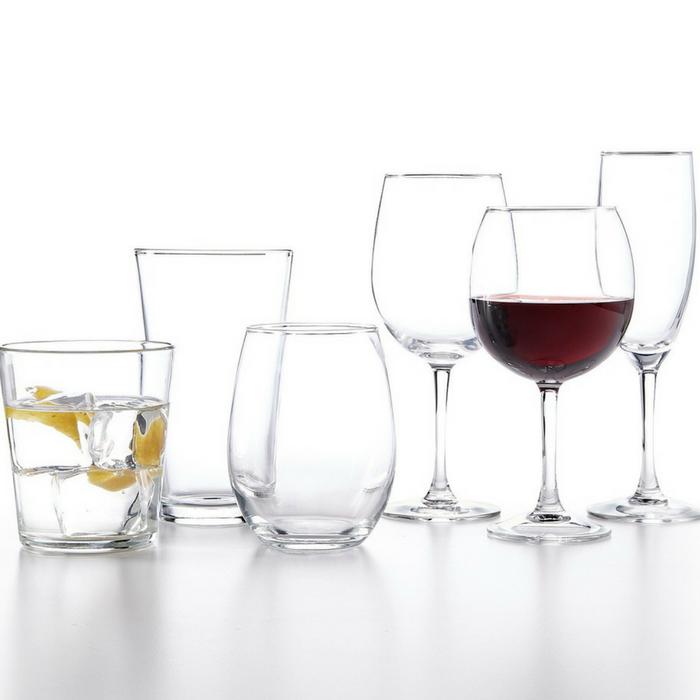 The Cellar Basics 12-Piece Glassware Sets