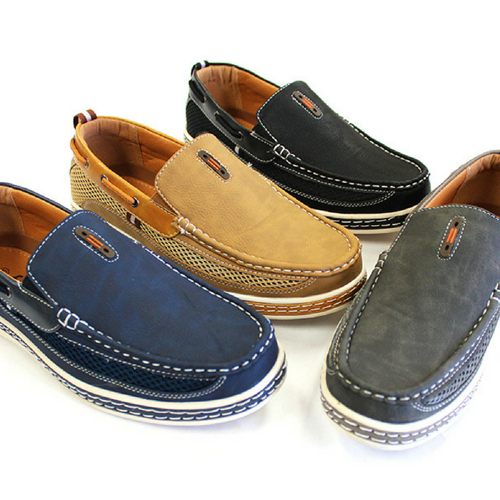 Men's Leather Slip-On Loafers