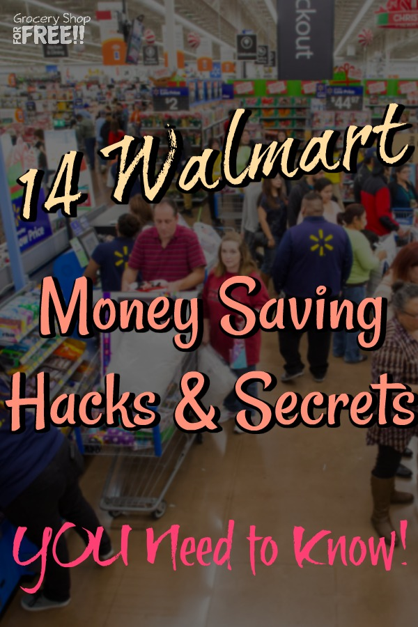 Shopping at Walmart with these 14 Walmart Savings Tips, Walmart saving hacks, and secrets will have you saving money while shopping at Walmart in no time!   From Walmart grocery savings tips, to Walmart cash back, and Walmart Apps we've got you covered!