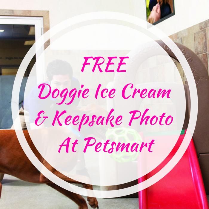 FREE Doggie Ice Cream & Keepsake Photo At Petsmart!