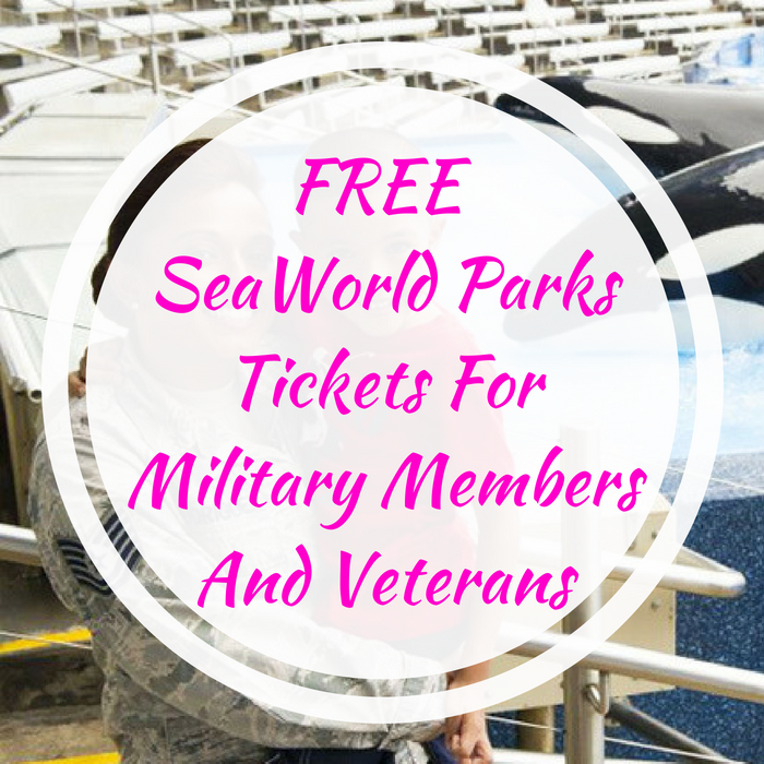 FREE SeaWorld Parks Tickets For Military Members And Veterans!