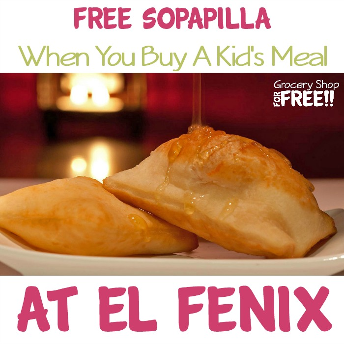 FREE Mini Sopapilla With Kid's Meal Purchase At El Fenix!