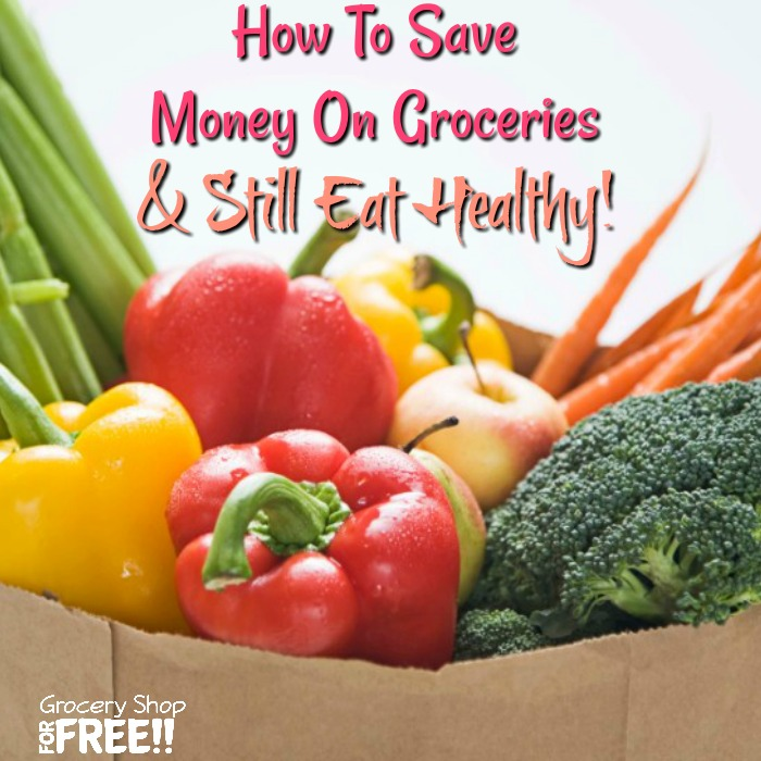 """I can't use coupons, they're all for unhealthy food.""  I have heard that a hundred times over the years and I think it's just an excuse.  You CAN save money on groceries and still eat healthy.  This post will show you How To Save Money On Groceries And Still Eat Healthy!"