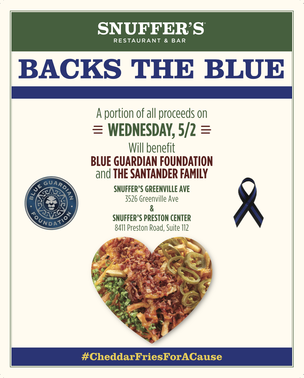 Snuffer's Restaurant & Bar Fundraiser For Fallen Officers! #cheddarfriesforacause