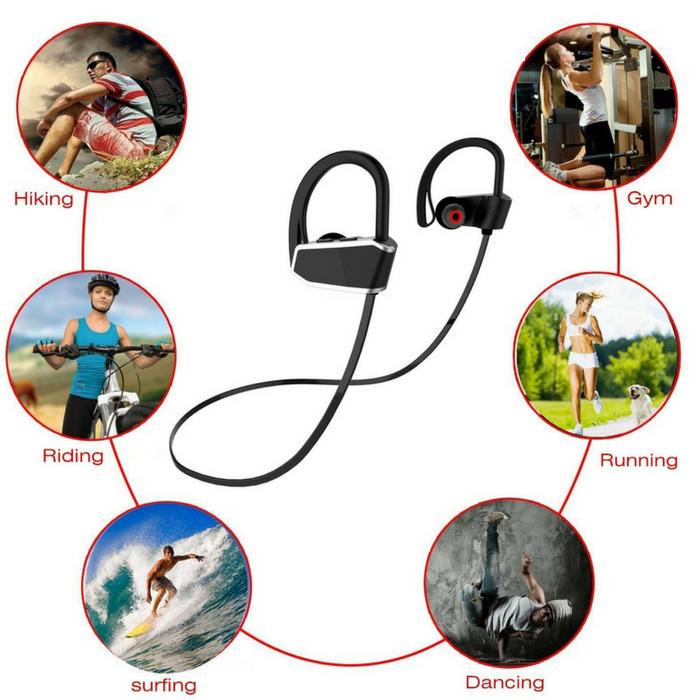 Waterproof Sports Bluetooth Headphones