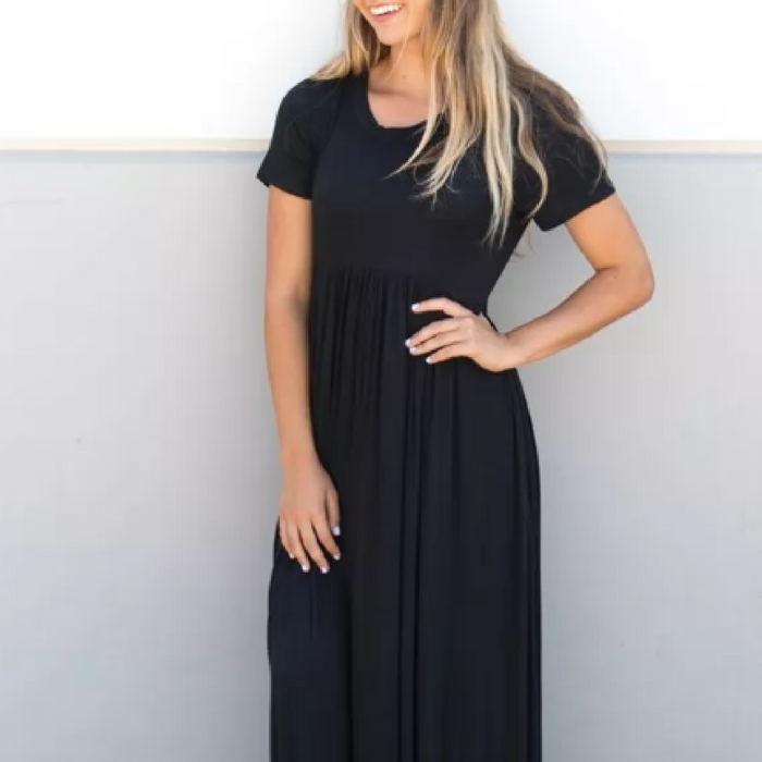 Peplum Pocket Maxi