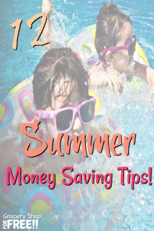 Are you looking for a summer money saving plan?  These 12 Summer Money Saving Tips will help you get through your summer money saving challenge.  There are tips for saving money all year, but, these summer savings tips will definitely help you!