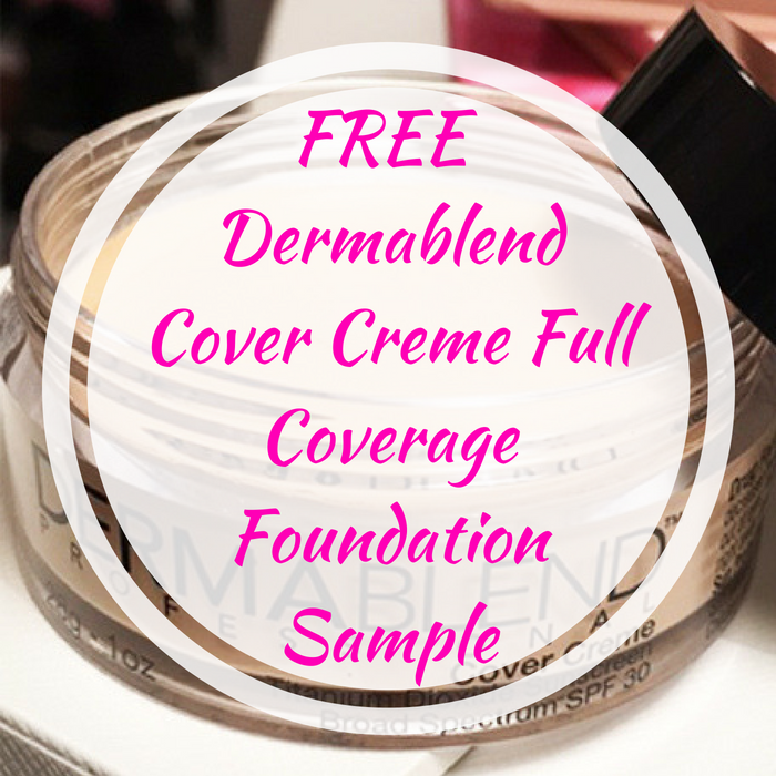 FREE Dermablend Cover Creme Full Coverage Foundation Sample!