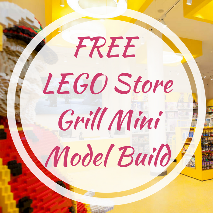 FREE LEGO Store Grill Mini Model Build!