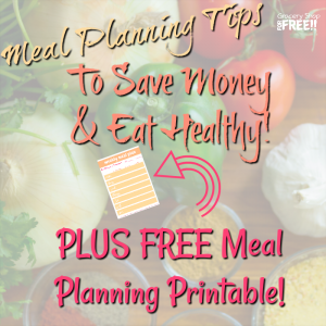 Meal Planning Tips And Tricks To Save Money While Eating Healthy!  PLUS FREE Meal Planning Printable!