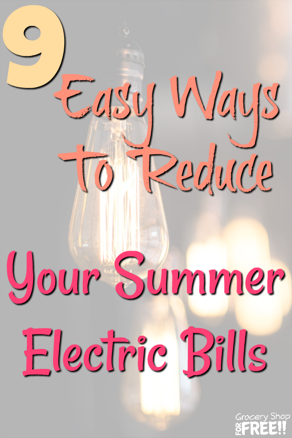 Are you looking for simple ways to cut your electric bill?  Then look no further than this list of 9 easy ways to reduce your electricity bill this summer!  We have compiled a list of 9 simple & easy, money saving ways to cut costs on your electric bill that you can start using right now!
