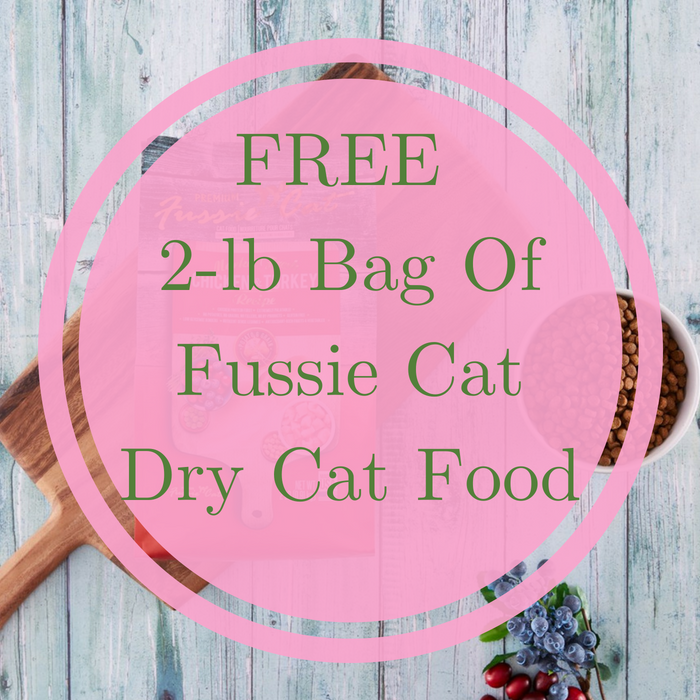 FREE 2-lb Bag Of Fussie Cat Dry Cat Food!