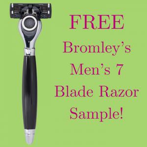 FREE Bromley's Men's 7 Blade Razor Sample!