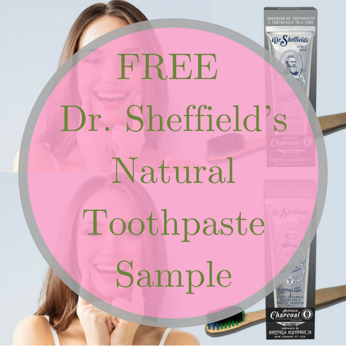 FREE Dr. Sheffield's Natural Toothpaste Sample!