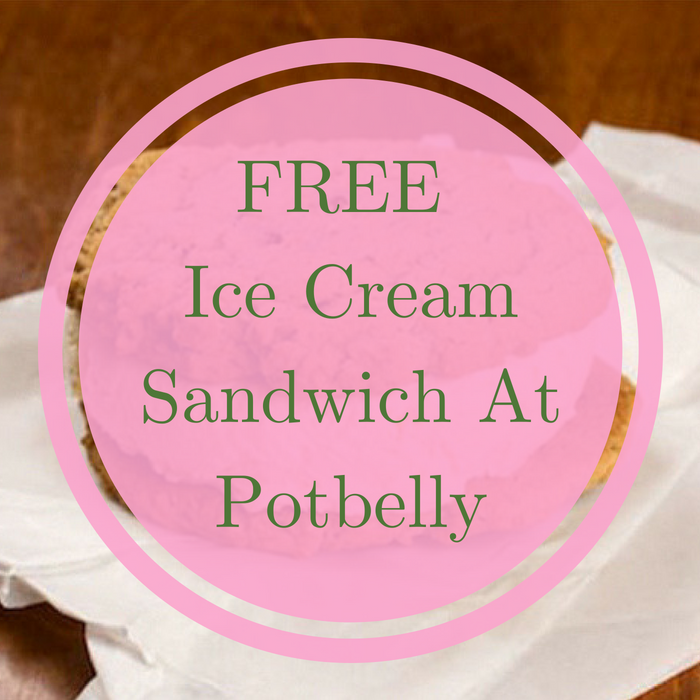 FREE Ice Cream Sandwich At Potbelly!