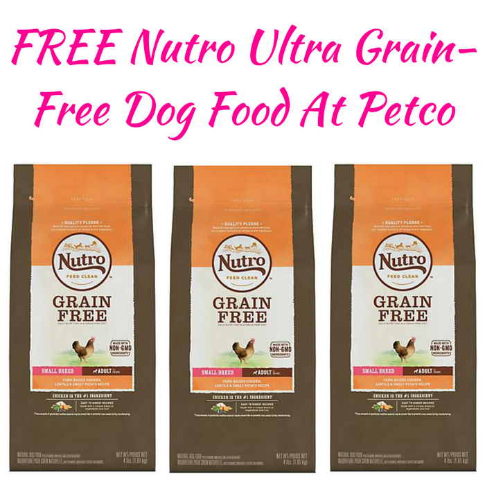 FREE Nutro Ultra Grain-Free Dog Food At Petco!