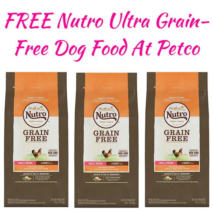FREE Nutro Ultra Grain-Free Dog Food At Petco!