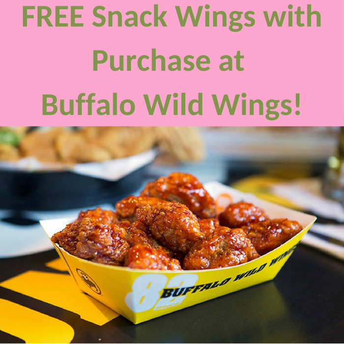 FREE Snack Wings With Purchase At Buffalo Wild Wings!