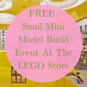 FREE Snail Mini Model Build Event At The LEGO Store!