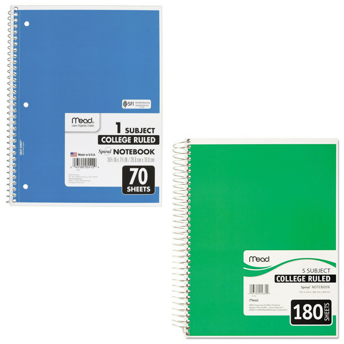 Mead College Notebook