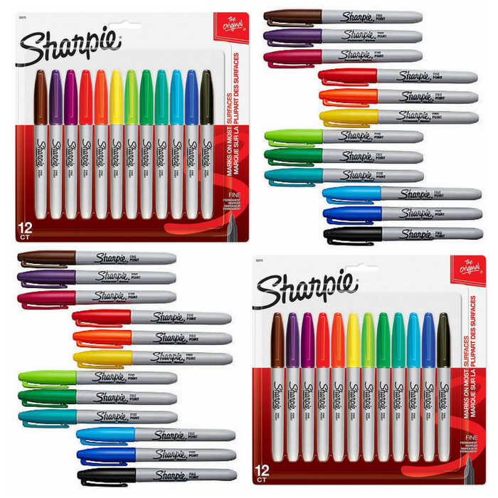 FREE Sharpie Assorted 12-Pack Permanent Markers!