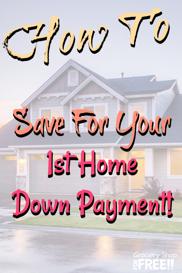 How to save for your first home downpayment!