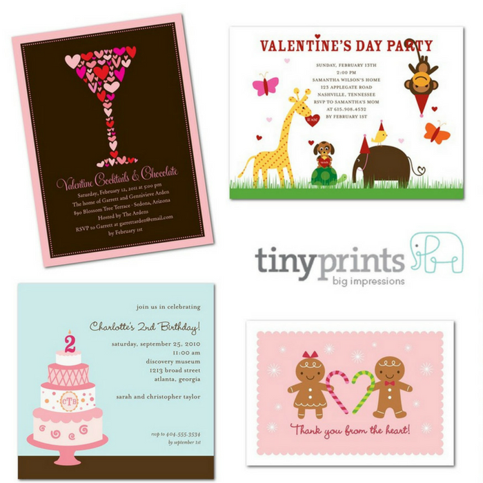10 FREE Tiny Prints Cards! PLUS FREE Shipping!