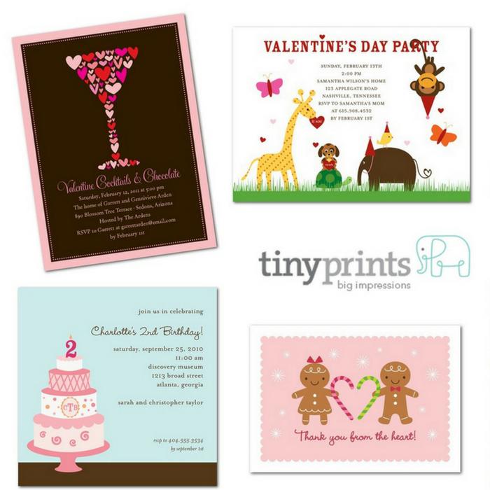 10 FREE Tiny Prints Cards! PLUS FREE Shipping!