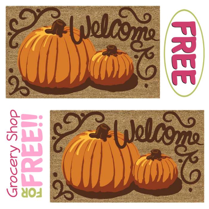 In Time For Halloween! FREE Painted Pumpkins Doormat!
